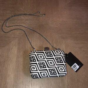 Zara black and white clutch crossbody.